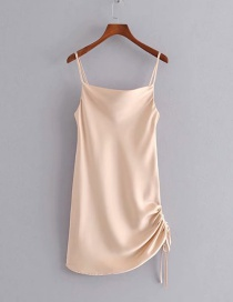 Fashion Pink Drawstring Harness Dress