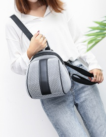 Fashion Gray Woven Mesh Backpack