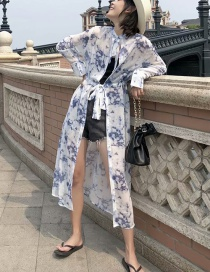 Fashion White Flower Print: Two Dresses