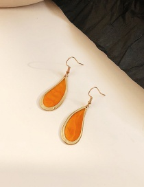 Fashion Orange Geometric Transparent Earrings