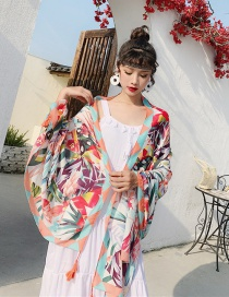 Fashion Tropical Flower Cotton And Linen Printed Scarves