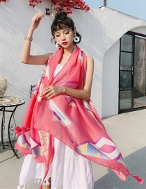 Fashion Makeup Elephant Cotton And Linen Printed Scarves