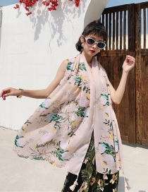 Fashion 52nd Color Cotton And Linen Printed Scarves