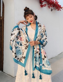 Fashion Fantasy Geometry Cotton And Linen Printed Scarves