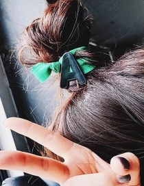 Fashion A Green Letter Rubber Band