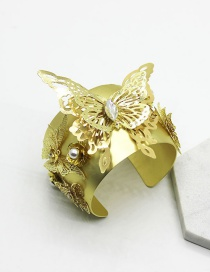 Fashion Gold Metal Butterfly Bracelet