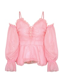 Fashion Pink Sling Chiffon Dot Vest