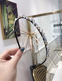 Fashion White Crystal Drill Winding Woven Fine Side Headband