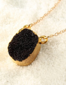 Fashion Black Square Natural Stone Necklace