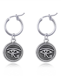 Fashion Eye Stainless Steel Opening Pattern Earrings