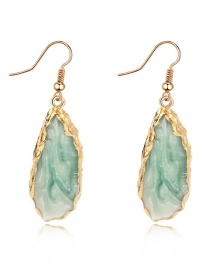 Fashion Green Irregular Earrings