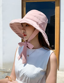 Fashion Pink Bow Big Fisherman Hat