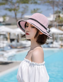 Fashion Pink Big Sun Hat