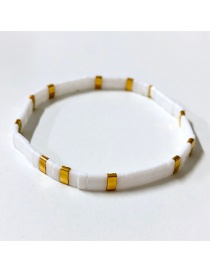 Fashion White Woven Rice Beads Bracelet