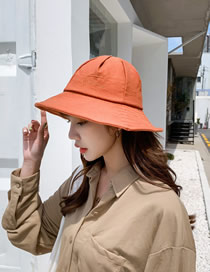 Fashion Orange Letter Fisherman Hat