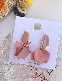 Fashion Pink Stitching Petals Earrings