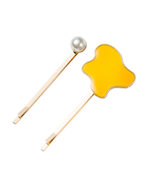 Fashion Yellow Pearl Hairpin Set