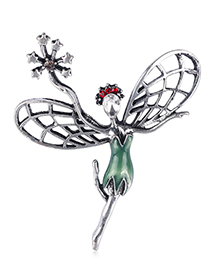 Fashion Flower Fairy Alloy Flower Fairy Brooch