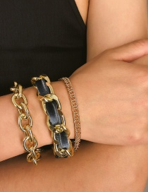 Fashion Gold Geometric Flannel Shell Bracelet