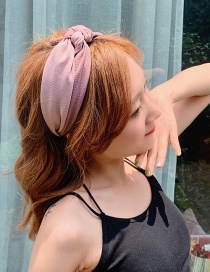 Fashion Light Purple/knotted Knotted Wide-brimmed Headband