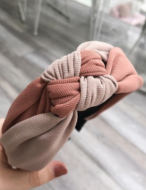 Fashion Bean Paste Powder Knotted Wide-brimmed Headband