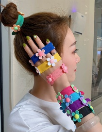 Fashion Yellow Small Flower Stretch Wide-necked Rubber Band