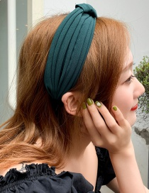 Fashion Dark Green Fabric Cross Wide Headband