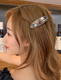 Fashion Dark Imitation Pearl Spring Clip