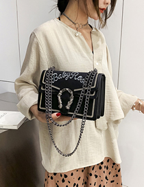 Fashion Black Small Crossbody Single Shoulder Chain Bag