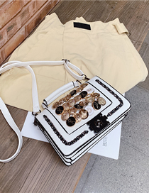 Fashion White Diamond Shoulder Bag Shoulder Bag