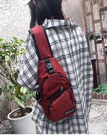 Fashion Red Usb Charging Shoulder Shoulder Chest Bag