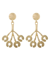 Fashion Gold Money Tree Light Gold Branch Earrings
