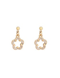 Fashion Gold Alloy Flower Earrings