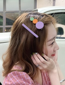 Fashion Purple Avocado Alloy Resin Hair Clip