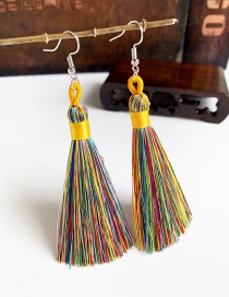 Fashion Color Alloy Tassel Earrings