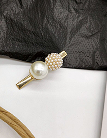 Fashion Pearl Gold Alloy Pearl Hairpin
