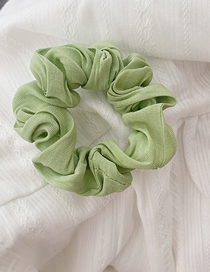 Fashion Bean Green Solid Color Fabric Hair Ring