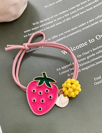 Fashion Red Strawberry Fruit Hair Rope