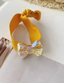 Fashion Yellow Hair Rope Transparent Bow Hairline