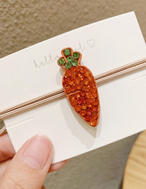 Fashion Carrot Fruit-studded Hair Ring