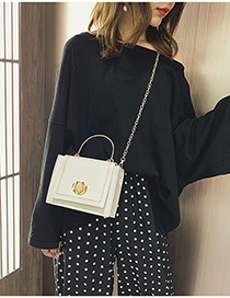 White Single Shoulder Color Chain Bag