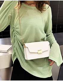 White Chain Shoulder Bag
