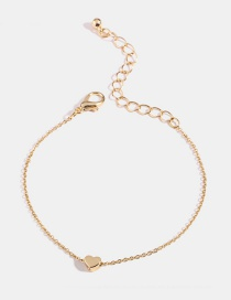 Gold 18k Gold Alloy Heart Bracelet