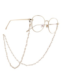 Gold Pearl Glasses Hanging Chain Necklace