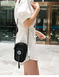 Fashion Vertical Section Pu One Shoulder Diagonal Small Square Package