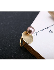 Fashion Gold Pearl Alloy Ring