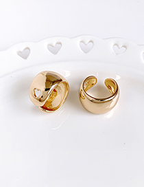 Fashion Gold Alloy Round Love Ring Two-piece