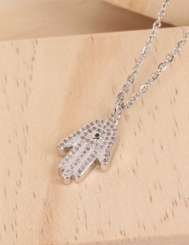Fashion Silver Gold-plated Palm-studded Necklace