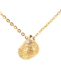 Fashion Gold Plated Gold Conch Stainless Steel Necklace