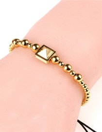 Fashion Gold Gold Plated Diamond Conical Beaded Beaded Bracelet